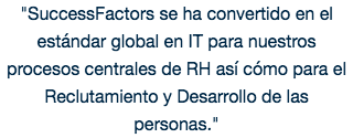 SuccessFactors ha ayudado...